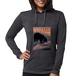 bear-CROP-text Womens Hooded Shirt