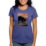 bear-CROP-text Womens Tri-blend T-Shirt