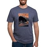 bear-CROP-text Mens Tri-blend T-Shirt