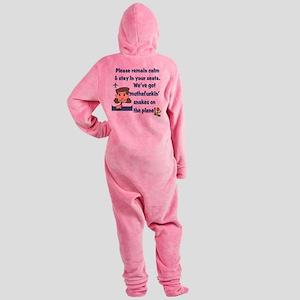 remain calm Footed Pajamas