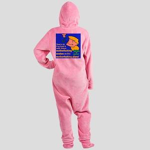 That its SOAP6 border Footed Pajamas
