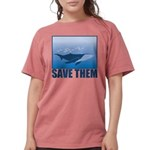 FIN-whale-save-them Womens Comfort Colors Shir
