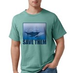FIN-whale-save-them Mens Comfort Colors Shirt