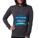 FIN-whale-talk-tail Womens Hooded Shirt