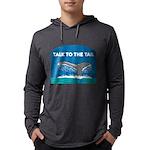 FIN-whale-talk-tail Mens Hooded Shirt