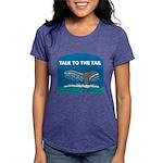 FIN-whale-talk-tail Womens Tri-blend T-Shirt