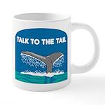 FIN-whale-talk-tail 20 oz Ceramic Mega Mug