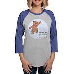 Dancing Teddy Bear Womens Baseball Tee