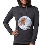 Dancing Teddy Bear Womens Hooded Shirt