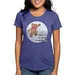 Dancing Teddy Bear Womens Tri-blend T-Shirt