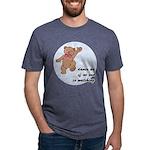 Dancing Teddy Bear Mens Tri-blend T-Shirt