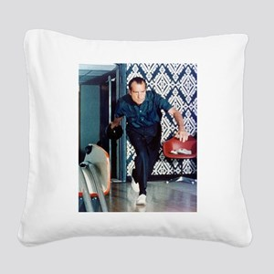 nixon_bowling_5_8 Square Canvas Pillow