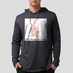 FIN-bunny-be-hoppy Mens Hooded Shirt
