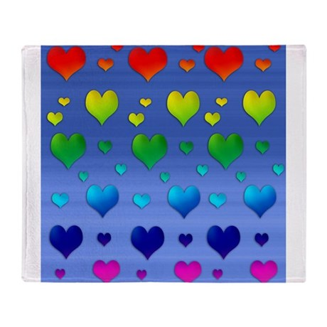 Chakra Heart on Sky Throw Blanket