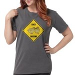 crossing-sign-chick Womens Comfort Colors Shir