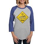 crossing-sign-chick Womens Baseball Tee