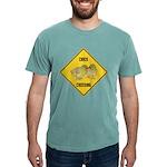 crossing-sign-chick Mens Comfort Colors Shirt
