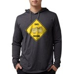crossing-sign-chick Mens Hooded Shirt
