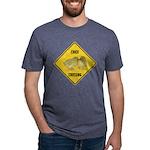 crossing-sign-chick Mens Tri-blend T-Shirt