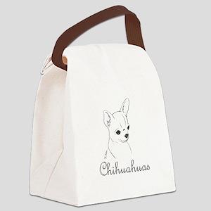 ChihuahuaDrawingDolly Canvas Lunch Bag
