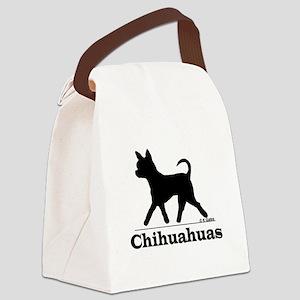 3-ChihuahuaSilhoutte Canvas Lunch Bag