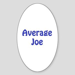 Average Joe Oval Sticker