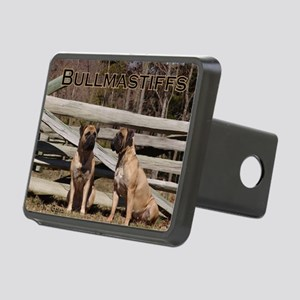 Bullmastiffs-Two Sitting Rectangular Hitch Cover