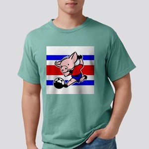 costa-rica-soccer-pig Mens Comfort Colors Shir