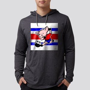 costa-rica-soccer-pig Mens Hooded Shirt