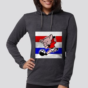 croatia-soccer-pig Womens Hooded Shirt