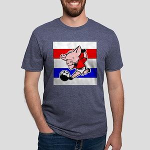 croatia-soccer-pig Mens Tri-blend T-Shirt