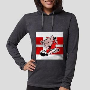 denmark-soccer-pig Womens Hooded Shirt