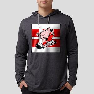 denmark-soccer-pig Mens Hooded Shirt