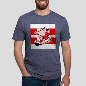 denmark-soccer-pig Mens Tri-blend T-Shirt