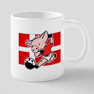 denmark-soccer-pig 20 oz Ceramic Mega Mug