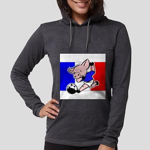france-soccer-pig Womens Hooded Shirt
