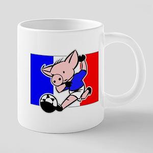 france-soccer-pig 20 oz Ceramic Mega Mug