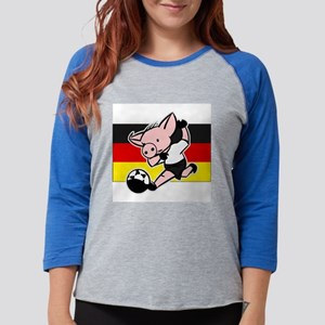 germany-soccer-pig Womens Baseball Tee