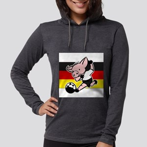 germany-soccer-pig Womens Hooded Shirt