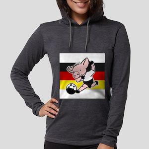 germany-soccer-pig Womens Hooded Shirt