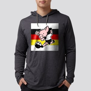 germany-soccer-pig Mens Hooded Shirt