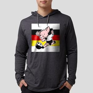 germany-soccer-pig Mens Hooded Shirt