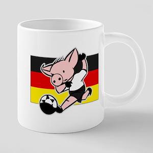 germany-soccer-pig 20 oz Ceramic Mega Mug