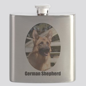 GatlynGermanShepardColor2 Flask