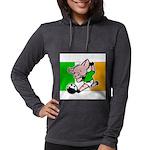 ireland-soccer-pig Womens Hooded Shirt