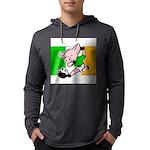 ireland-soccer-pig Mens Hooded Shirt