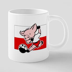 poland-soccer-pig 20 oz Ceramic Mega Mug