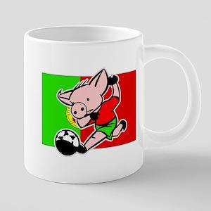portugal-soccer-pig 20 oz Ceramic Mega Mug