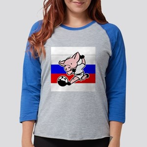 russia-soccer-pig Womens Baseball Tee