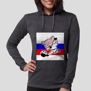 russia-soccer-pig Womens Hooded Shirt